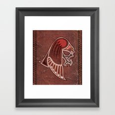 Aboriginal Hawk Attack Framed Art Print
