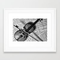 violin Framed Art Prints featuring Violin by WHIT MORE