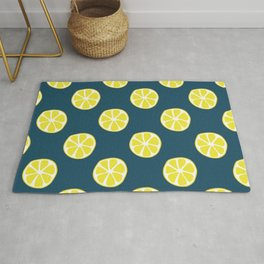 Lemon slice pattern Rug