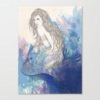 pisces Canvas Prints featuring Pisces by katiwo