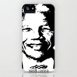 Nelson Mandela 1918 - 2013 And Beyond - Motivation - sticker - tshirt - poster - Madiba iPhone Case