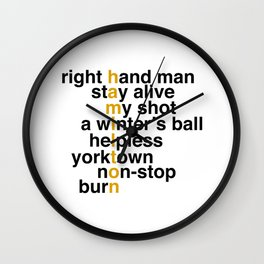 right hand man stay alive Wall Clock