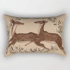 Jumping Deer Rectangular Pillow