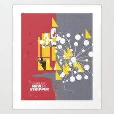 You're late - New Stripper series #7-10 Art Print