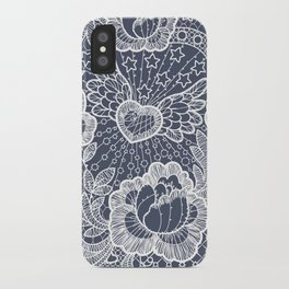 Lace. Roses and Heart. iPhone Case