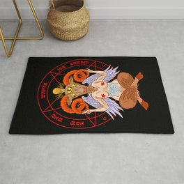 Body-Positive Baphomet Rug