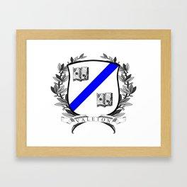 Valeton University Crest Framed Art Print