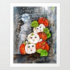 Painted Pumpkins Art Print