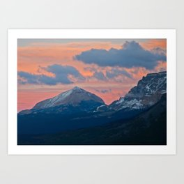 Glacier National Park Sunset Art Print