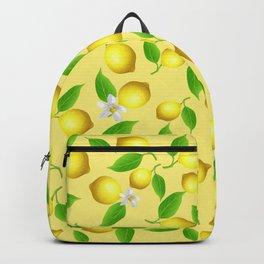Lemon pattern Backpack