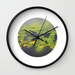 garden pond IV Wall Clock