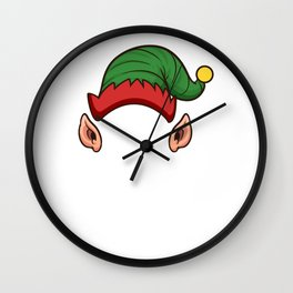 Elf Squad Funny Christmas Gift Holiday Season Wall Clock