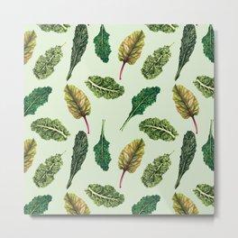 Go Green - Leafy Green Pattern Metal Print