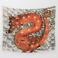 carpe diem Wall Tapestries featuring Carpe Diem by anipani