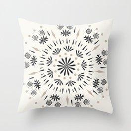 Snowflakes Scandic Nordic Throw Pillow
