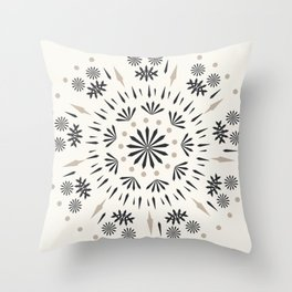 Snowflakes Scandic Nordic Throw Pillow
