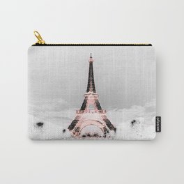 pariS Black & White + Pink Carry-All Pouch