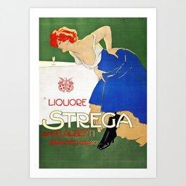 Vintage Italian poster - Dudovich - Liquore Strega Art Print