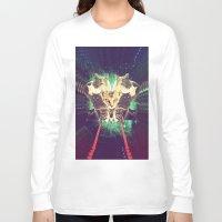 saga Long Sleeve T-shirts featuring Galactic Cats Saga 1 by Carolina Nino