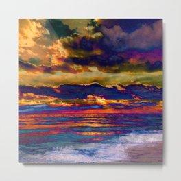 Florida Sunset Abstract Metal Print