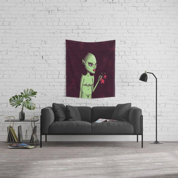 ET Girl Wall Tapestry