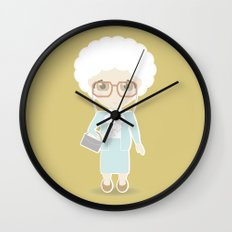 Girls in their Golden Years - Sophia Wall Clock