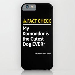 Komondor Dog Funny Fact Check iPhone Case