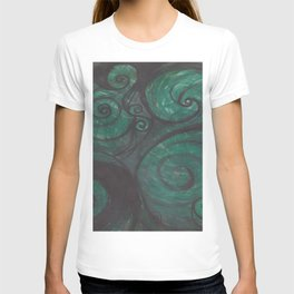 Swirl (black and green) T-shirt