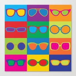 Pop Art Eyeglasses Canvas Print