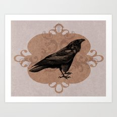 Crow Flourish Art Print