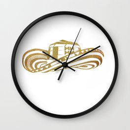 Colombian Sombrero Vueltiao in Gold Leaf Style Wall Clock