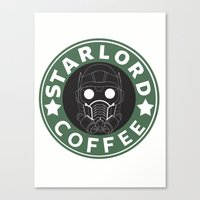 starlord Canvas Prints featuring Starlord coffee by withoutwax94