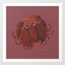 Cancer (wine red) Art Print