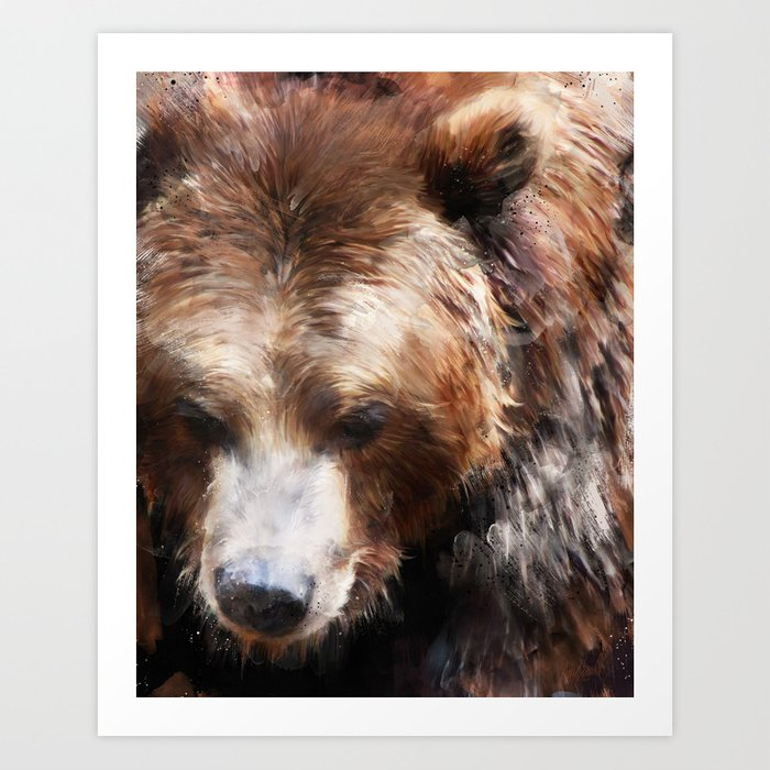 Discover the motif BEAR // GOLD by Amy Hamilton as a print at TOPPOSTER