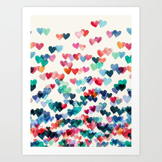 Heart Connections - watercolor painting Art Print