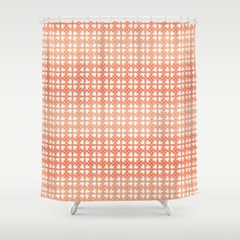 Living Coral Hearts Pattern Shower Curtain