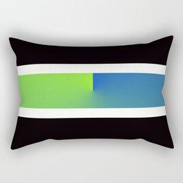 Team Colors 3...blue,green Rectangular Pillow