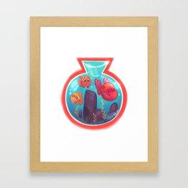 Fishbowl budies Framed Art Print