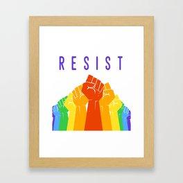 Resist (Pride) Framed Art Print