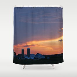 Lancaster County, PA Sunset Shower Curtain