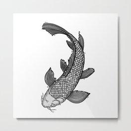 Koï Metal Print