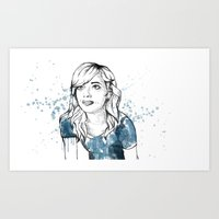 emma stone Art Prints featuring Emma by naidl