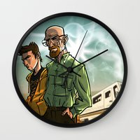 breaking bad Wall Clocks featuring Breaking Bad by Adrien ADN Noterdaem