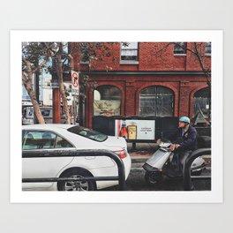 Urban life Art Print