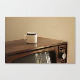 Vintage Mug and TV Canvas Print