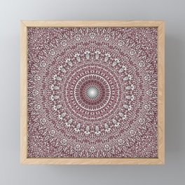 Light Pink Floral Mandala Framed Mini Art Print