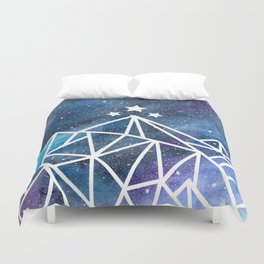 Watercolor galaxy Night Court - ACOTAR inspired Duvet Cover