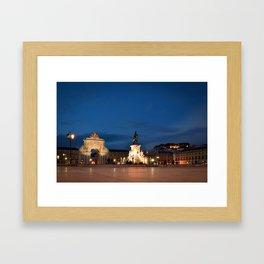 Lisbon Night Framed Art Print