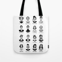 vogue Tote Bags featuring Vogue by EPHEMERAL IMPERFECT