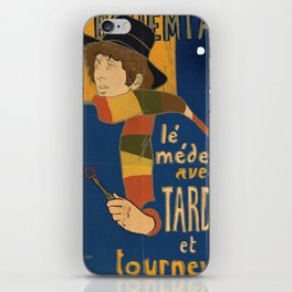 Le Bohemian Doctor Who by Lautrec iPhone Skin